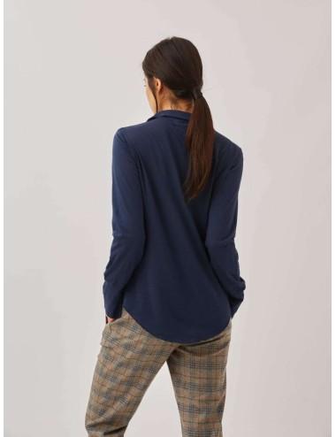 Camiseta Cruzada Azul