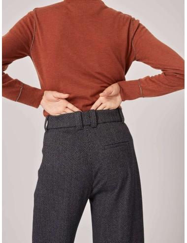 Pantalón Espiga Gris Oscuro