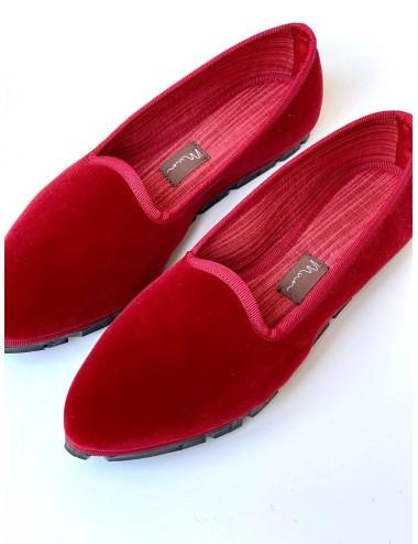 Slippers Terciopelo Rojo
