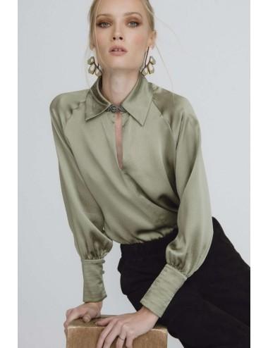 Blusa de Seda Verde