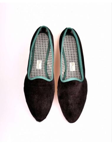 Slippers Terciopelo Negro